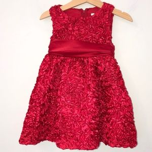 🎁Rare Editions sleeveless dress toddler sz 2T Red